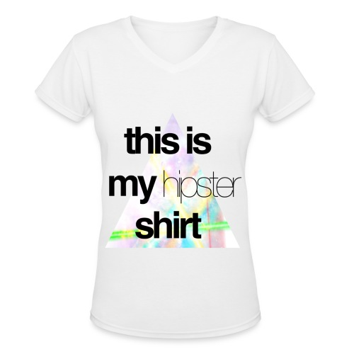 This is My Hipster Shirt (Womans V-neck) - Women's V-Neck T-Shirt