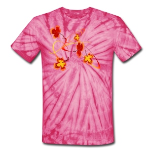 A Fiery Wild Autumn Ride - Unisex Tie Dye T-Shirt