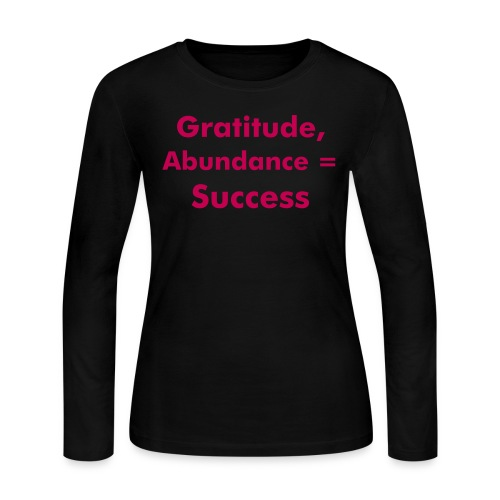 Gratitude, Abundance = Success - Women's Long Sleeve Jersey T-Shirt