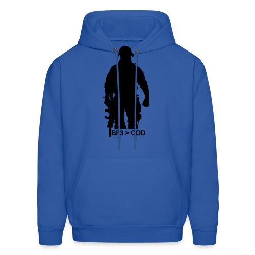 Mens Hoodie : BF3  COD - Men's Hoodie