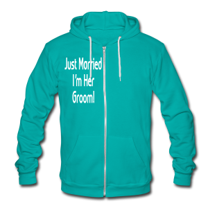 Just Married I'm Her Groom - Unisex Fleece Zip Hoodie by American Apparel