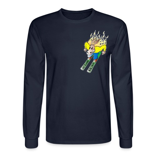 The Jackass Skier Long Sleeve Tee - Men's Long Sleeve T-Shirt