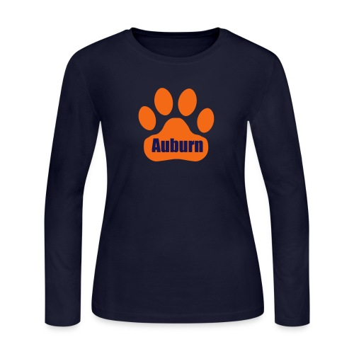 Auburn Tiger Paw LS Tee - Women's Long Sleeve Jersey T-Shirt