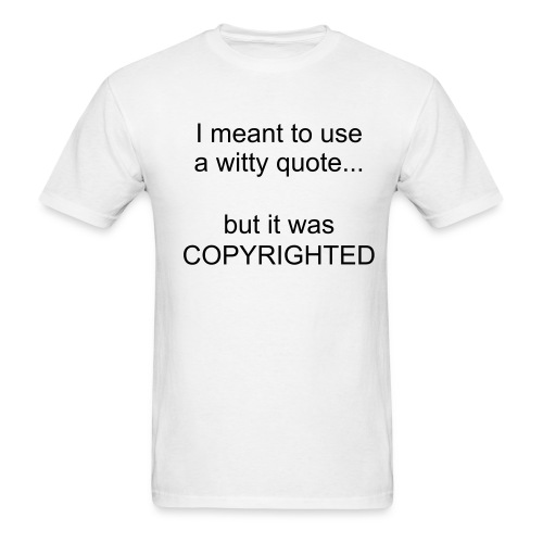 Copyright trouble - Men's T-Shirt