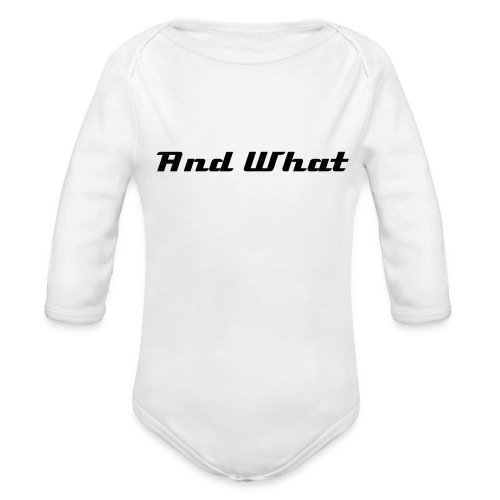 Infants' AndWhat On-Piece /Blue - Organic Long Sleeve Baby Bodysuit