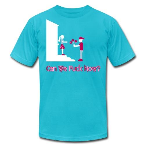 Flowers For Sex - Can We Fuck Now? – Men's T-Shirt - Men's Fine Jersey T-Shirt