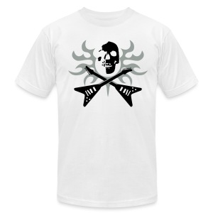 Skull Electric Guitars - Men's T-Shirt by American Apparel