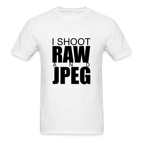 I SHOOT RAW - Men's T-Shirt