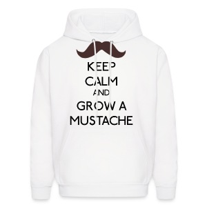 Keep Calm - and grow a Mustache - Men's Hoodie