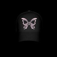 Sportswear ~ Baseball Cap ~ Pink Ribbon Butterfly Baseball Cap