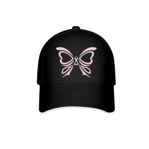 Pink Ribbon Butterfly Baseball Cap - Baseball Cap