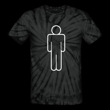 simple man male mens toilet door shape outline T-Shirts