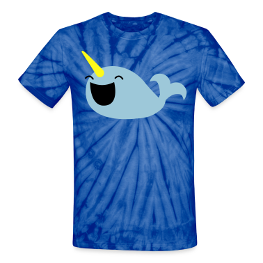 very happy narwhale whale with a horn T-Shirts