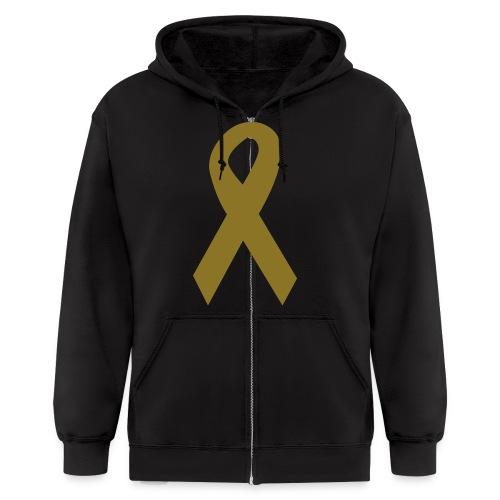 childhood cancer - Men's Zip Hoodie