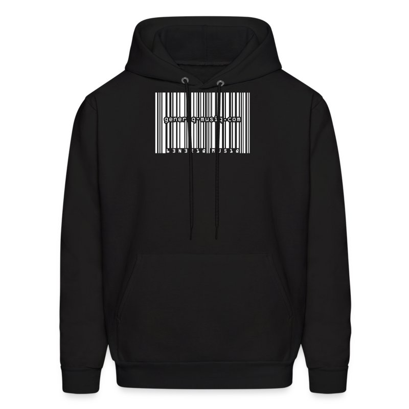 generiq-musiq barcode hoodie - Men's Hoodie