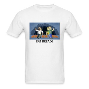 EAT BREAD! - White Standard Weight - Men's T-Shirt