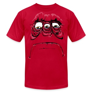 SadFace Three - Men's T-Shirt by American Apparel
