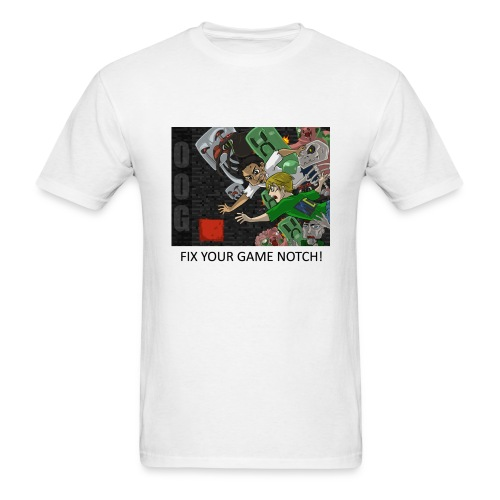 FIX YOUR GAME! - White Standard Weight - Men's T-Shirt