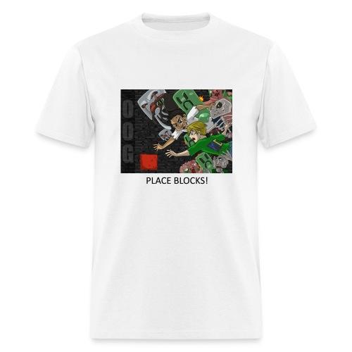 PLACE BLOCKS! - Anime White Standard Weight - Men's T-Shirt