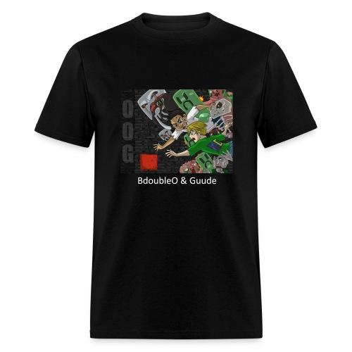 BdoubleO & Guude! - Anime Black Standard Weight - Men's T-Shirt