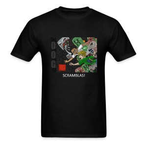 SCRAMBLAS! - Anime Black Standard Weight - Men's T-Shirt