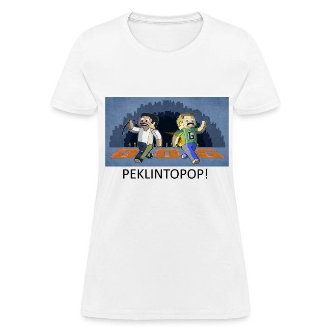 PEKLINTOPOP! - White Standard Weight Womens