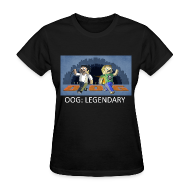 T-Shirts ~ Women's T-Shirt ~ LEGENDARY! - Black Standard Weight Womens