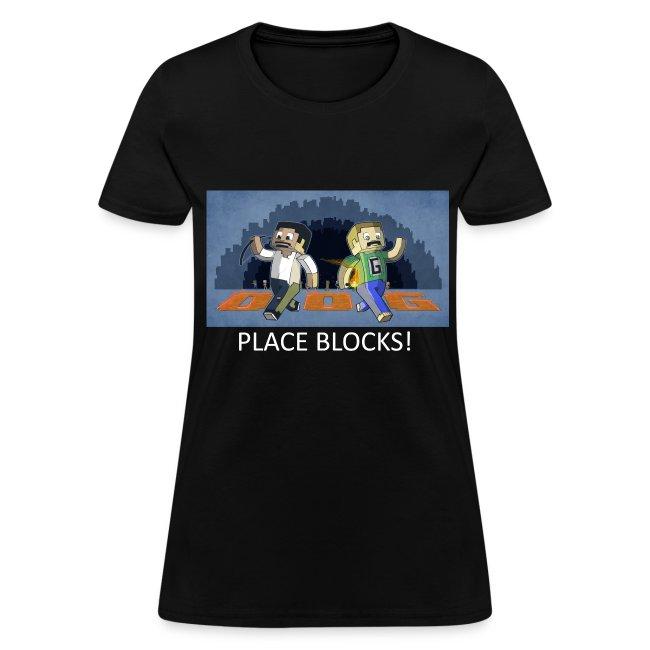 PLACE BLOCKS! - Black Standard Weight Womens