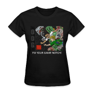 Women's T-Shirts ~ Women's T-Shirt ~ FIX YOUR GAME! - Anime Black Standard Weight Womens