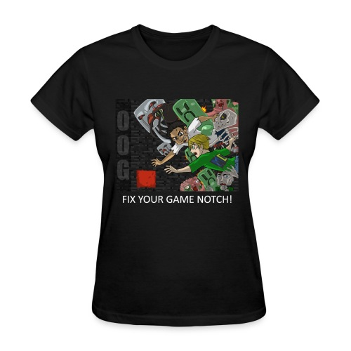 FIX YOUR GAME! - Anime Black Standard Weight Womens - Women's T-Shirt