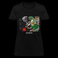 Women's T-Shirts ~ Women's T-Shirt ~ SKIDERS! - Anime Black Standard Weight Womens