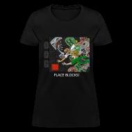 Women's T-Shirts ~ Women's T-Shirt ~ PLACE BLOCKS! - Anime Black Standard Weight Womens
