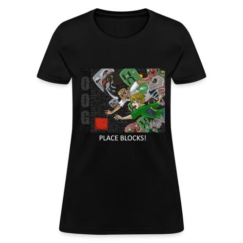 PLACE BLOCKS! - Anime Black Standard Weight Womens - Women's T-Shirt