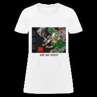 Women's T-Shirts ~ Women's T-Shirt ~ ARE WE HIGH? - Anime White Standard Weight Womens