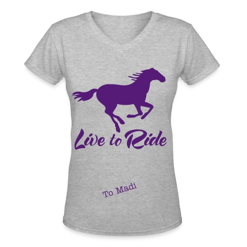 Live To Ride - Women's V-Neck T-Shirt
