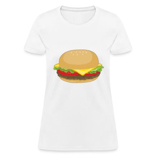 Cheeseburger: White - Womens - Women's T-Shirt