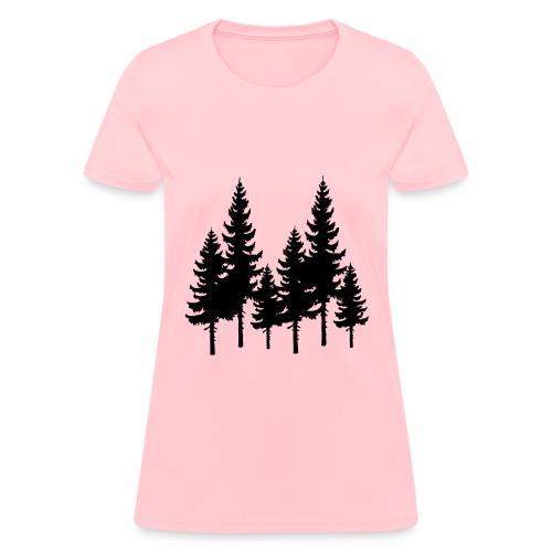 Trees: Pink - Womens - Women's T-Shirt