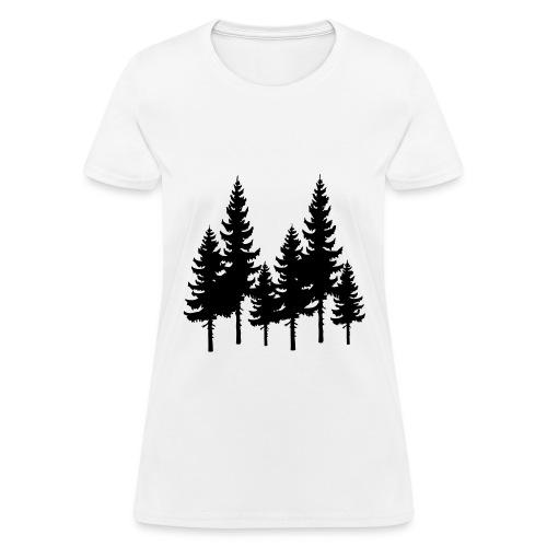 Trees: White - Womens - Women's T-Shirt