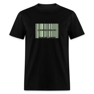 generiq-musiq barcode GLOW-IN-THE-DARK $10 T-SHIRT!!! - Men's T-Shirt