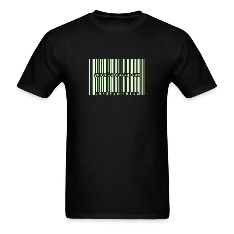 generiq-musiq barcode GLOW-IN-THE-DARK $10 T-SHIRT!!! - Men's T-Shirt