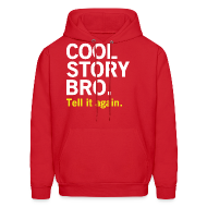 Hoodies ~ Men's Hoodie ~ Men Cool Story Bro Sweatshirt
