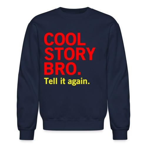Men Cool Story Bro Sweater - Crewneck Sweatshirt