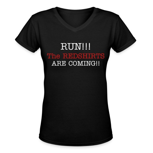 Yet Another Redshirts Tee - Women's V-Neck T-Shirt