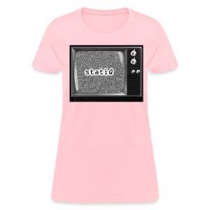 white noise/statiQ.org womens - Women's T-Shirt