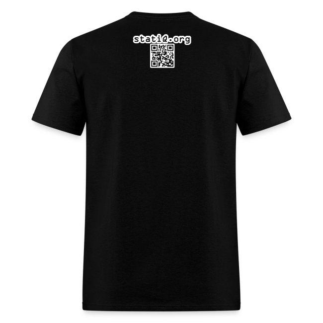 white noise/statiQ.org shirt