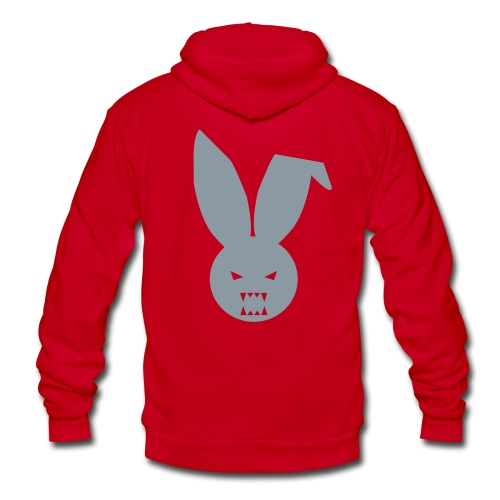 Jared - Red 2 - Unisex Fleece Zip Hoodie