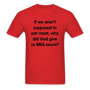 BBQ Sauce, blk text - Men's T-Shirt