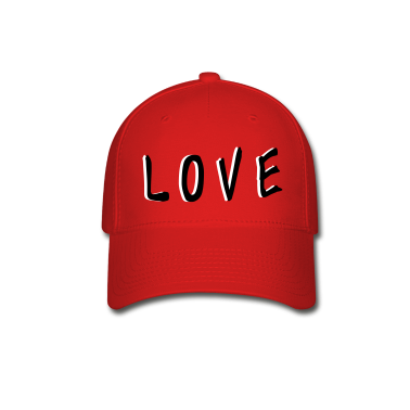 LOVE TXT vector graphic line art Baseball Cap