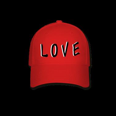 LOVE TXT vector graphic line art Baseball Cap