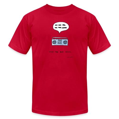 Stop the bad music - Men's color tee - Men's Fine Jersey T-Shirt